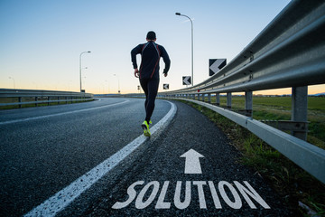 run toward solution