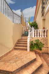 Stairs near the villa