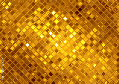 Poster Metal Luxury golden mosaic