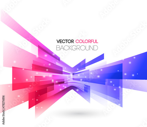 Abstract technology lines vector background - 78276816