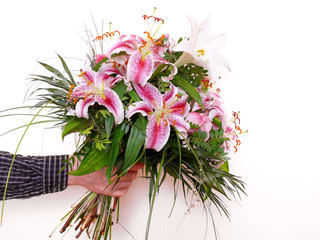 Beautiful Lily bouquet.