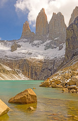 Dramatic Spires Above an Alpine Lake