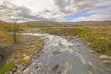 Wild River in the Patagonian Highlands