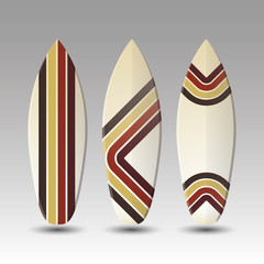 Vector Surfboards Design - Striped Pattern