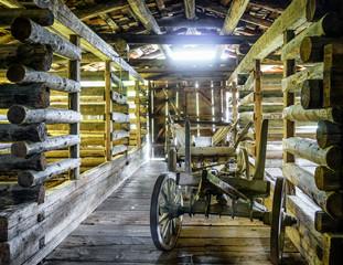 old hay cart