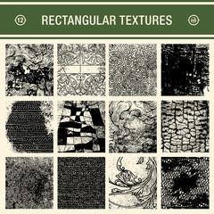 set of 12 detailed grunge textures
