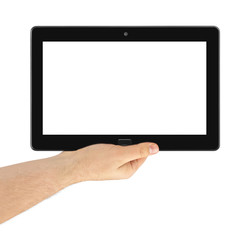 Hand with touchpad pc
