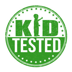 Kid tested stamp