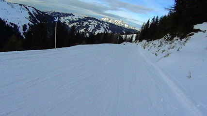 Beautiful winter high mountains landscape, slow motion
