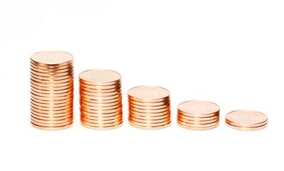 Diagram of golden coins