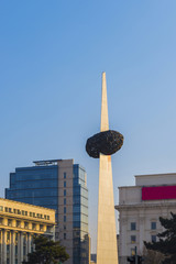The Monument Of Reborn in Revolution Square , Bucharest during s