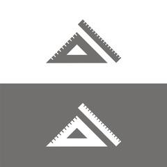 Icono regla y escuadra BN