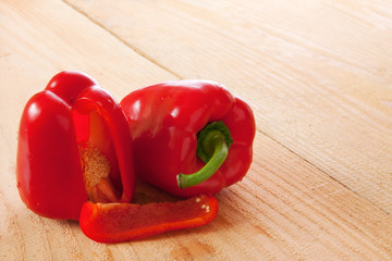 Fresh red  pepper isolated.