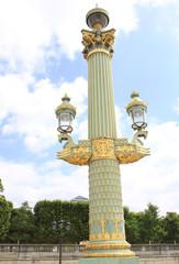 Beautiful Street Lamp at Place de la Concorde