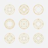 Set of geometric sha...