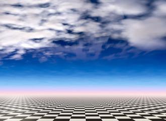 Checkered landscape background
