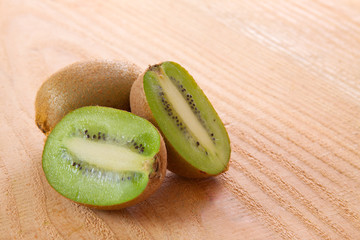 Fresh green kiwi  isolated.