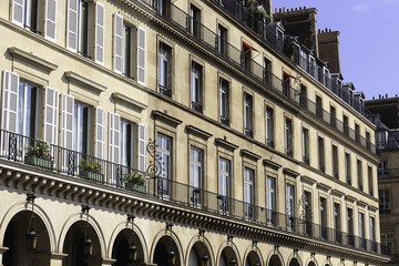 Classic Traditional French house. Paris, France.