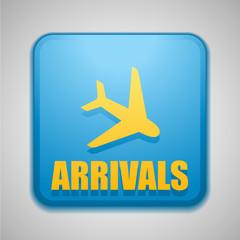 Arrivals sign