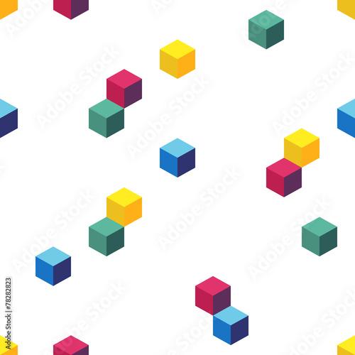 Fototapeta Cube background, seamless pattern