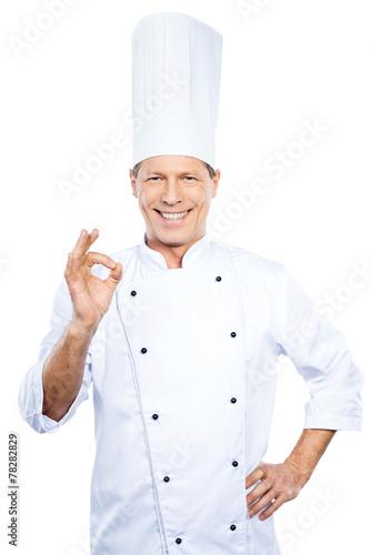 Confident chef. - 78282829