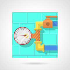 Flat color vector icon for manometer