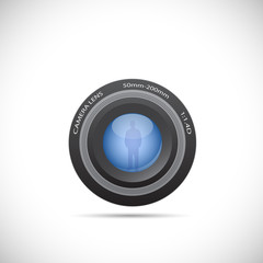 Camera Lens Illustration