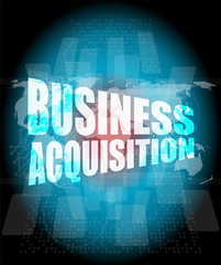 business, business acquisition digital touch screen interface