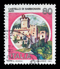 """Italy Castles stamp: """"Castello di Sabbionara"""" in Avio"""