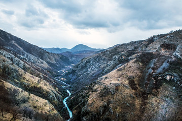 The canyon of Tara river (Kanjon rijeke Tare) in Montenegro, the