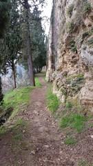 La strada dietro le mura medioevali