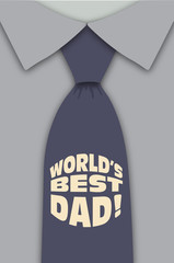 Best Dad Blue Tie