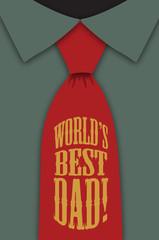 Best Dad Red Tie