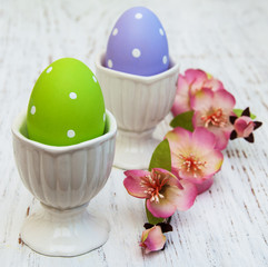 Easter eggs on a stand