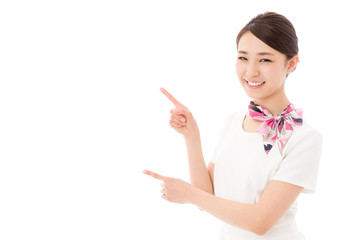 asian businesswoman on white backgroud