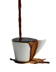 caffè che fuoriesce