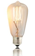 lampadina vintage accesa