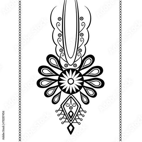 wzór ludowy - tatuaż © bridzia2
