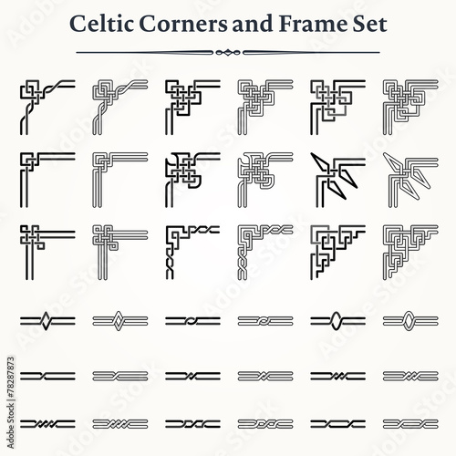 Set of Celtic Corners and Frames - 78287873