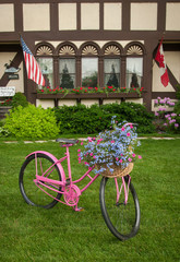 Yard Decor Bike Flowers