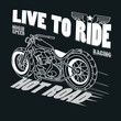 Motorcycle Racing Typography Graphics. T-shirt Design, vector
