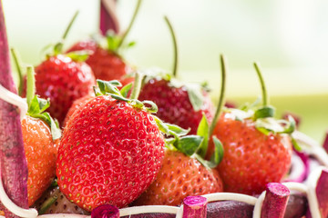 Strawberries close-up