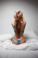 Desire on the bed a