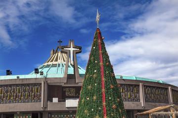 New Basilica Shrine of Guadalupe Christmas Tree Mexico City