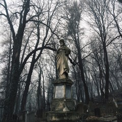 Statue in the Lychakiv cemetery
