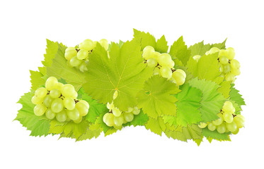 Grape wig isolated on white