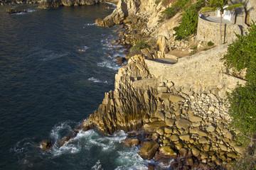 famous diving cliff La Quebrada in Acapulco, Mexico