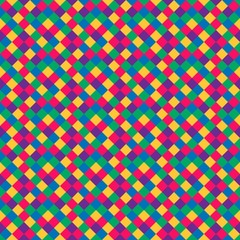 seamless pattern of colored squares