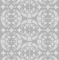 Seamless ornate background - grey