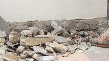 Smashing terrace floor